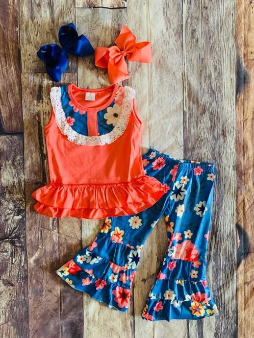 Coral and Blue Bells Set