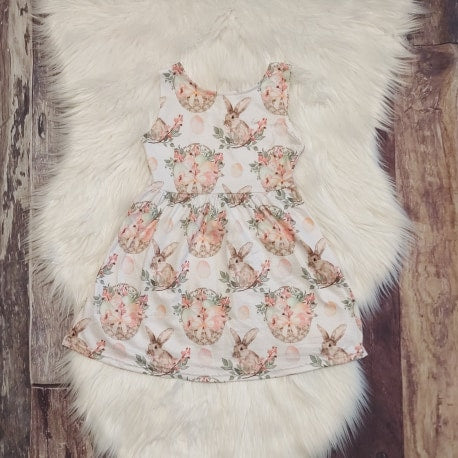 Easter Basket Sleeveless Bunny Dress