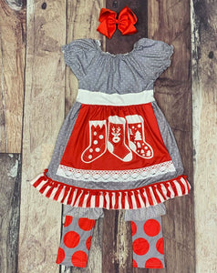 Christmas Stocking Apron Set