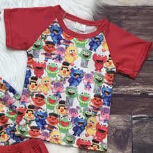 Load image into Gallery viewer, Elmo & Friends Red Tunic Set & Tee