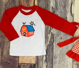 Embroidered Barn Raglan
