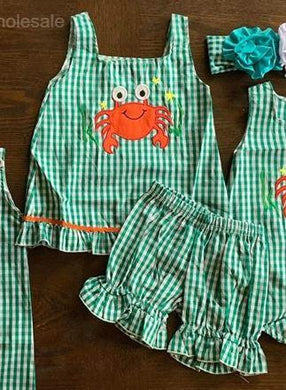 Embroidered Crab Girl Set