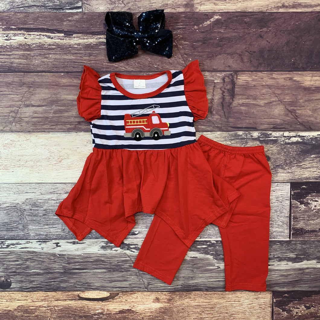 Fire Truck Dress w/leggings