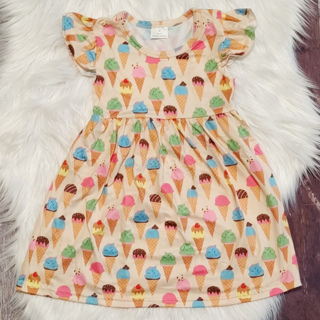 Ice Cream Cones Sleeveless Dress