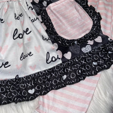 Load image into Gallery viewer, Pink & Black Hearts Tunic & Long Pants