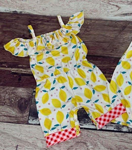 Lemon print Jump Suit