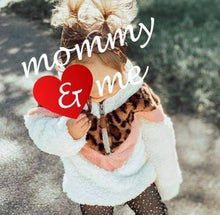 Load image into Gallery viewer, Leopard & Pink Mommy & Me Sherpa