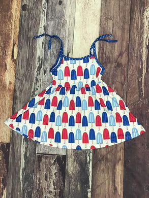 Red White and Blue Popsicle Dress