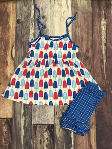 Red White & Blue Popsicle set