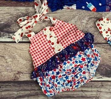 Americana Bomb Pop Halter Bubble - 4th of July