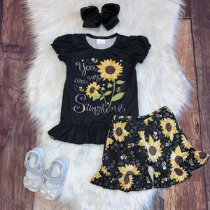 "Sunflower ""You are my Sunshine"" Tee & Shorts"