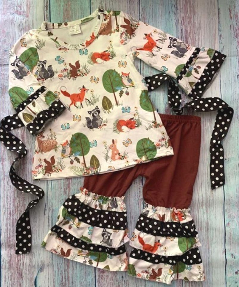 Woodland critter tunic set