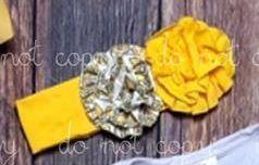 Yellow Damask Headband
