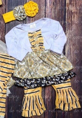 Yellow Damask Romper