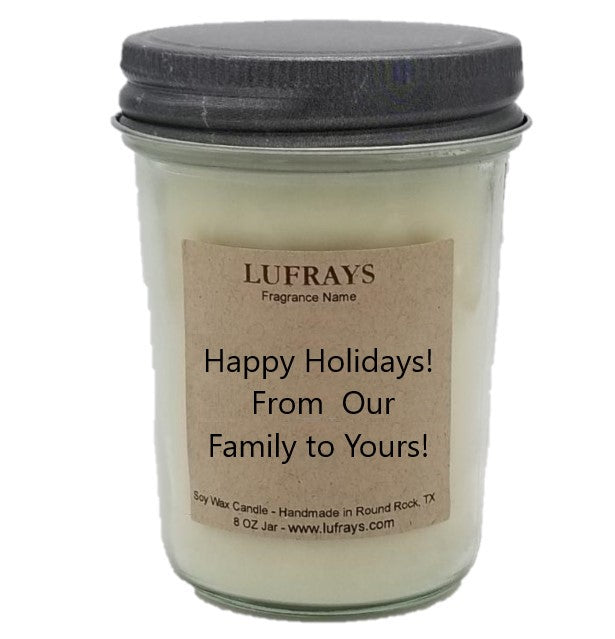 Happy Holidays Candle