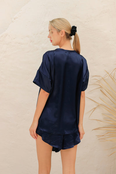 19 Momme Combined Silk Tee Pajama Set