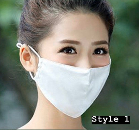 100% Silk Face Mask - Breathable Face Mouth Dust, Flu, Gauze Mask