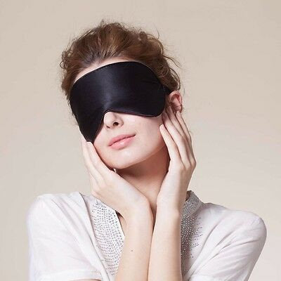 100% Silk Eye Mask with Wide & Soft Elastic Band - 19momme Mulberry Silk