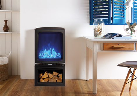 Vogue Midi Electric Stove With Log Store