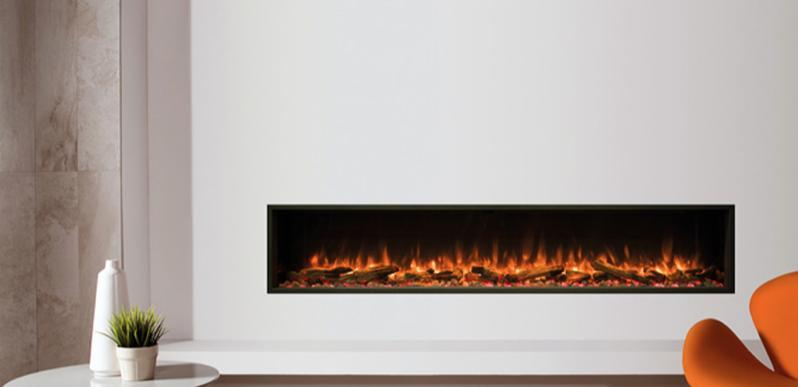 Gazco eReflex 195R Inset electric fire with log and pebble fuel effect
