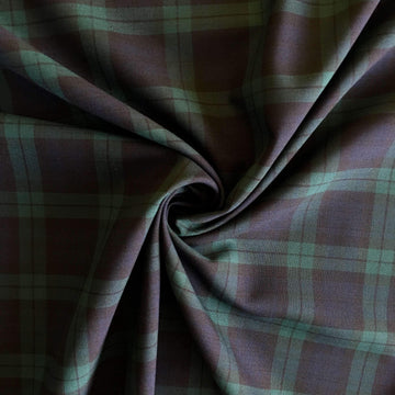 Green Stripe Tartan - Super Cheap Fabrics