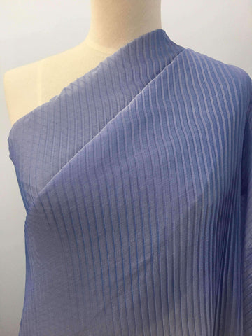 Pleated Polyester - Blue