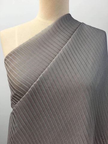 Pleated Polyester - Grey