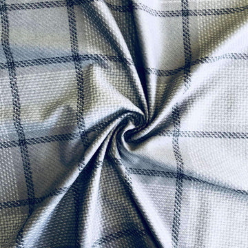 Wool Blend - Grey Check