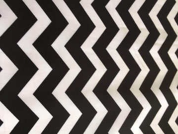 Black & White Chevron Stripe - Super Cheap Fabrics