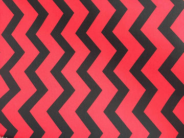 Red & Black Chevron Stripe