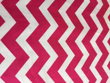 Fuchsia & White Chevron Stripe - Super Cheap Fabrics