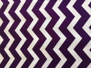Purple & White Chevron Stripe