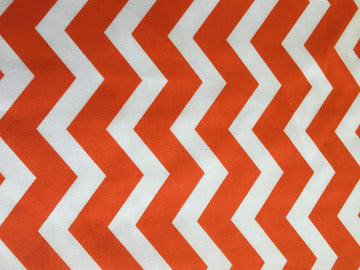 Orange & White Chevron Stripe