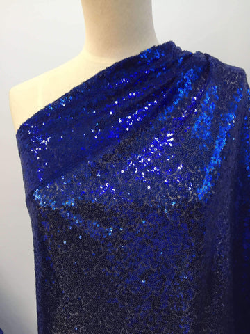 Evening Sequins - Royal - Super Cheap Fabrics