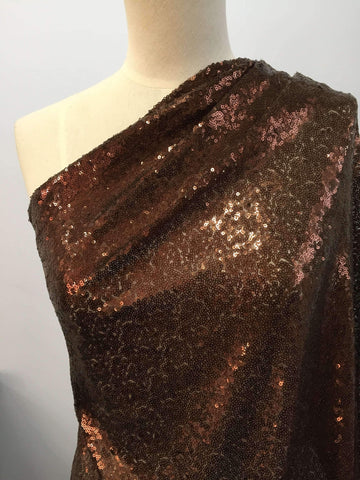 Evening Sequins - Bronze - Super Cheap Fabrics
