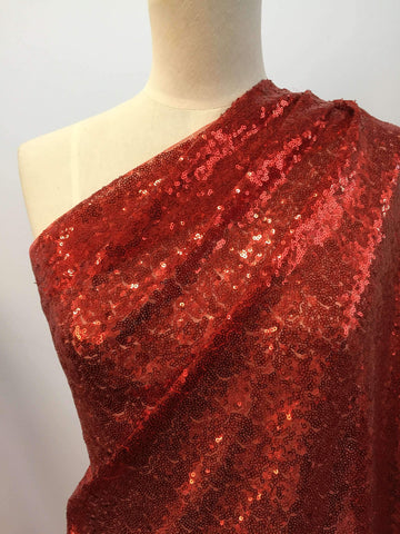 Evening Sequins - Red - Super Cheap Fabrics