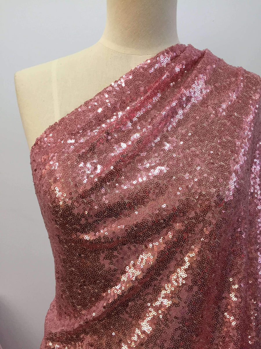 Evening Sequins - Rose - Super Cheap Fabrics
