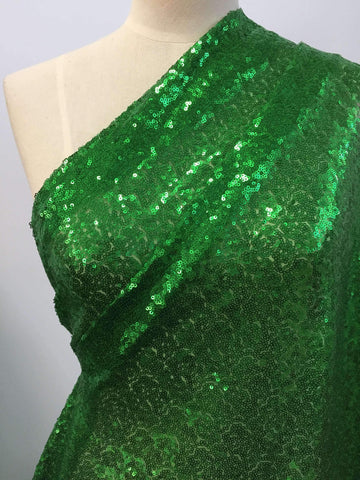 Evening Sequins - Emerald - Super Cheap Fabrics