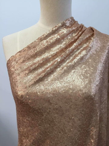 Evening Sequins - White Gold - Super Cheap Fabrics