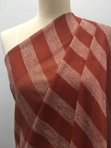 Rust & White XL Stripe