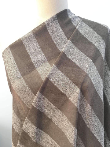 Taupe & White XL Stripe