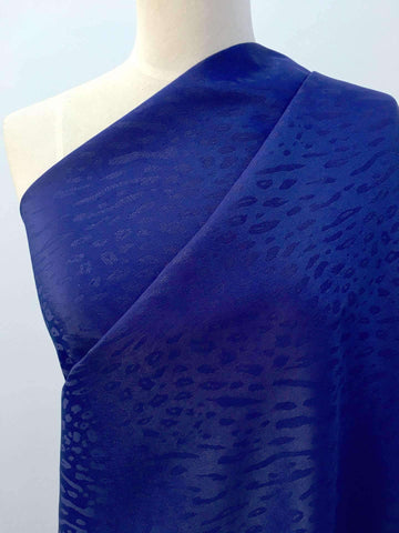 Textured Polyester - Royal Leopard