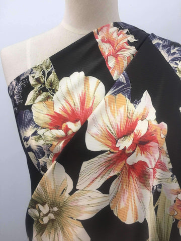 Printed Satin - Bold Flowers