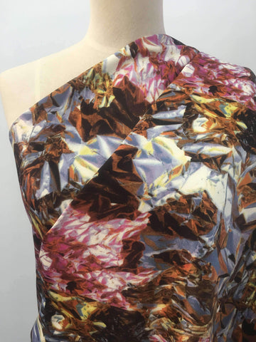Printed Satin - Jewel