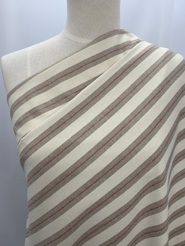 Wool Blend - Tweed Stripe