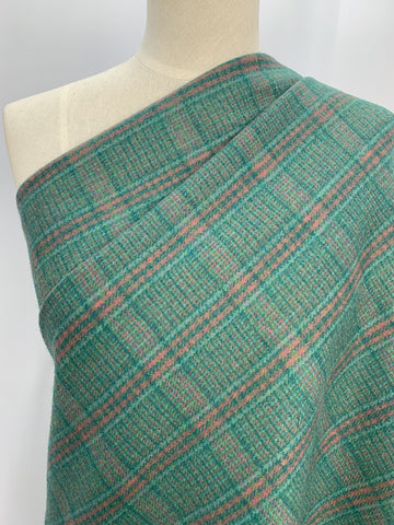 Wool Cashmere - Green Check