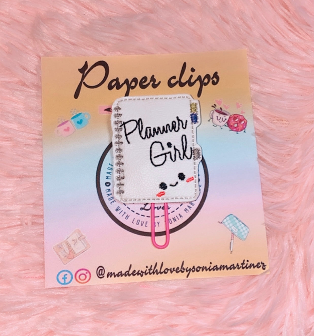 Kawaii Planner Girl Binder Paper Clip