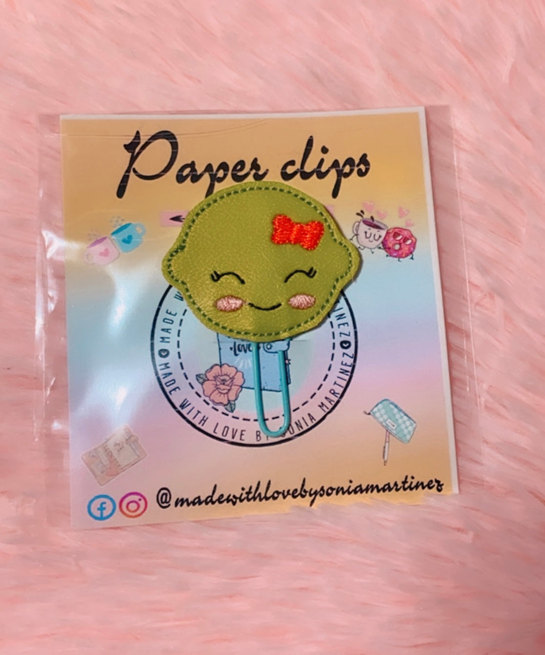 Green Lime Paper Clip