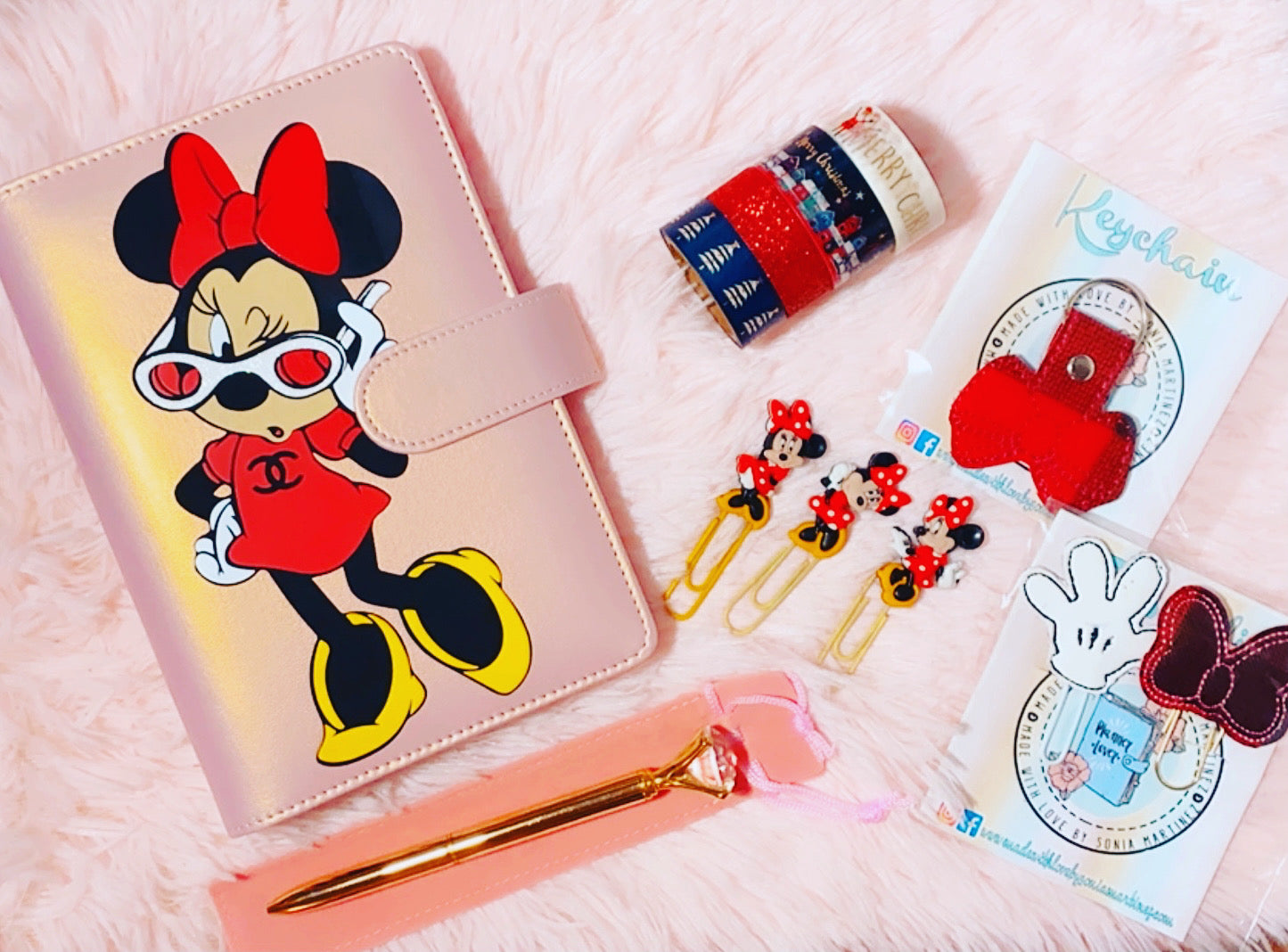 Minnie Mouse Channel Notebook Binder Cover