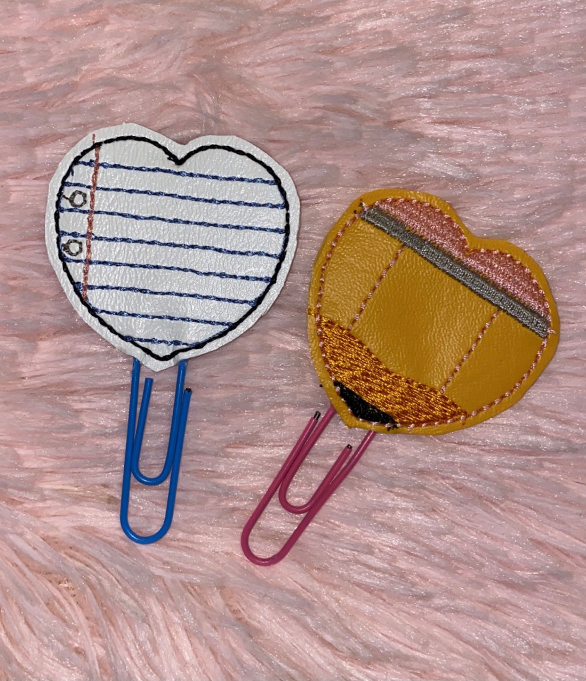 Pencil And Paper Heart Paper Clips